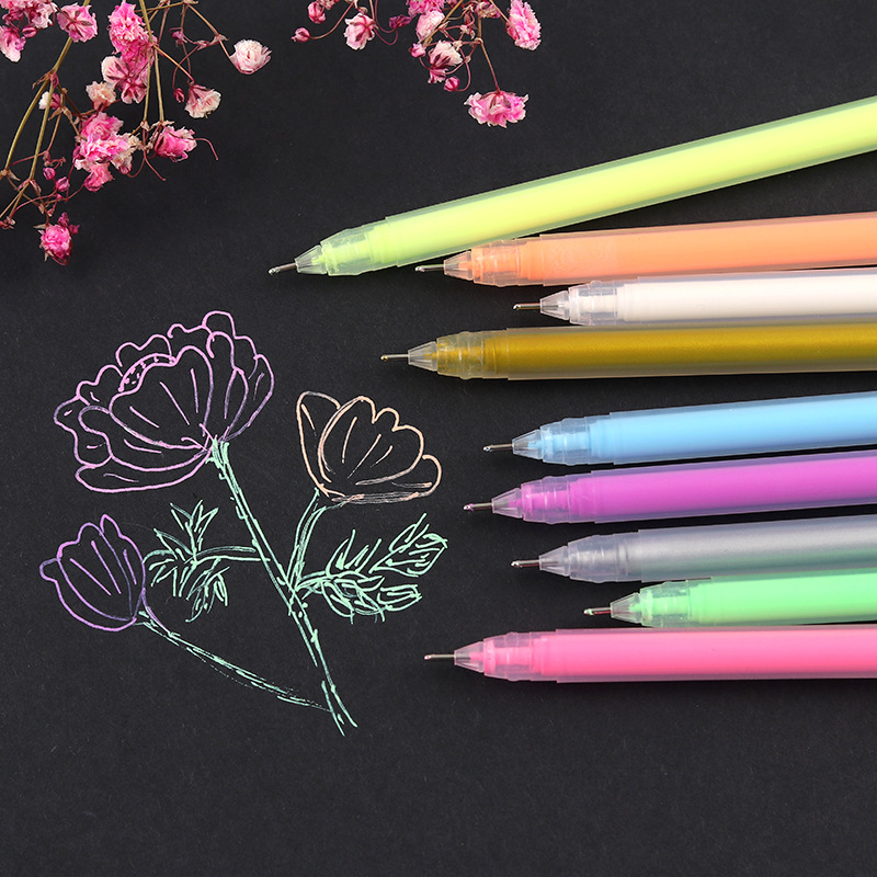 0 6mm Color Paint Marker Pens Highlight Liner Sketch Markers For Kids Writing Graffiti Gel Pen Art Manga Painting School Supply in Highlighters from Office School Supplies