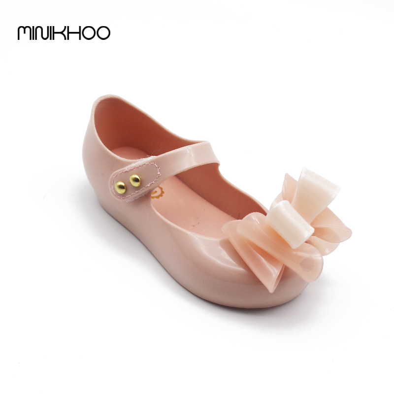 Mini Melissa Mini Three Bows Jelly Girls Sandals Melissa Girls Sandals Sapato Infantil Menina 13-15.5cm Children Shoes Girls