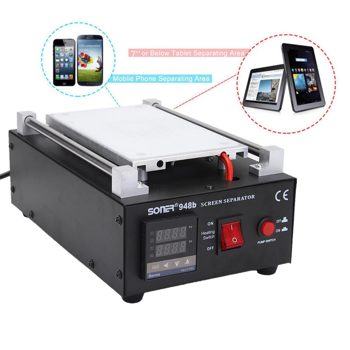 все цены на LCD Glass Screen Separator Repair Machine 7 Built-in Vacuum Pump Mobile Phone Different Cover Plate Auto Heating LED Display онлайн
