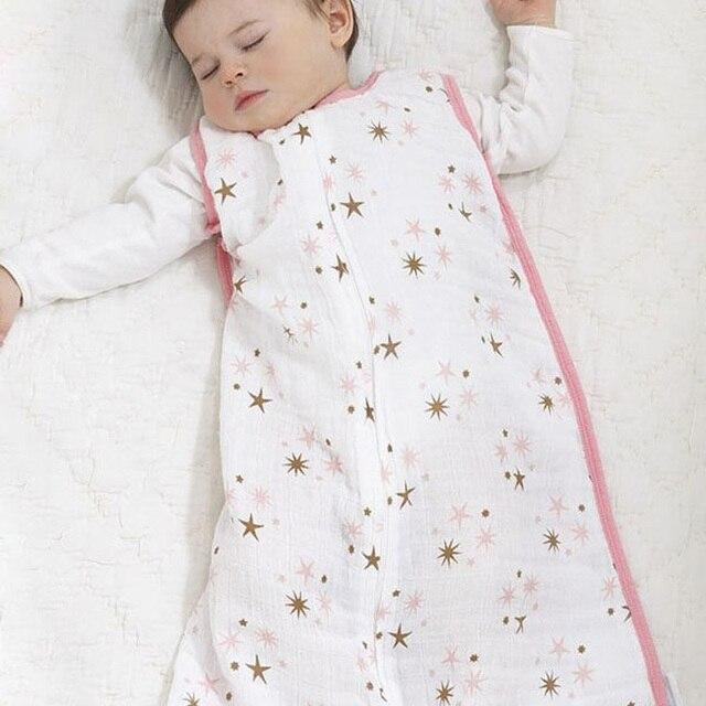 New Baby Sleeping Bags 100 Muslin Cotton Aden Anais Thin Bag For Summer Bedding