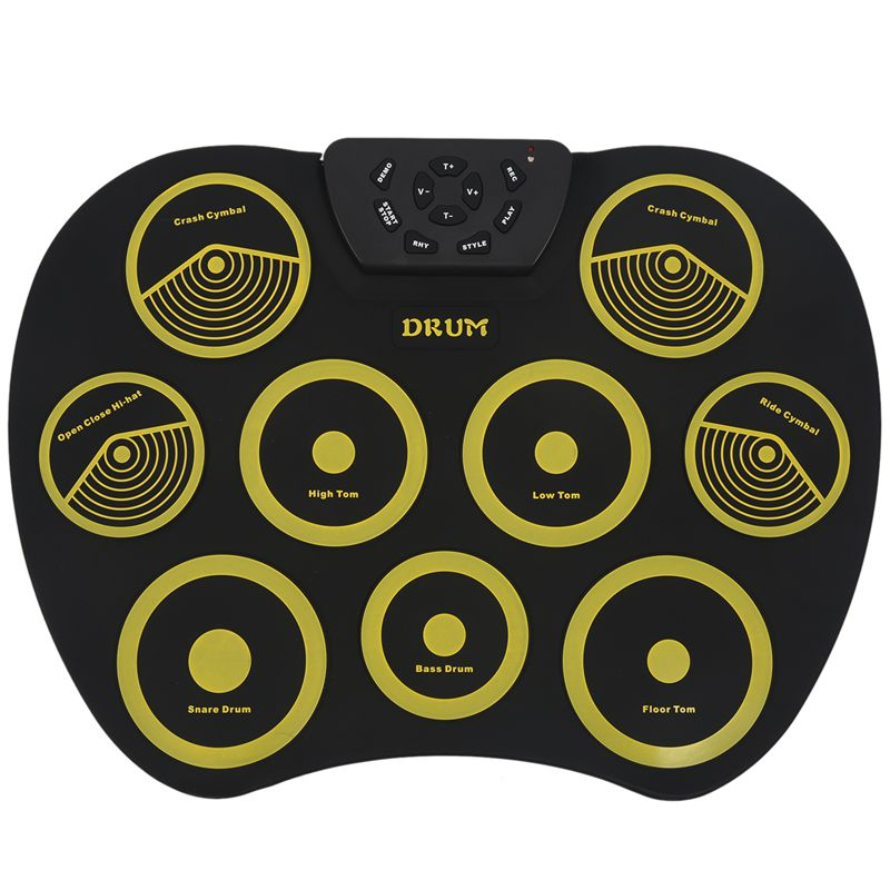 Hot Portable Electronics Drum Set Roll Up Drum Kit 9 Silicone Pads USB Powered With Foot Pedals Drumsticks USB Cable