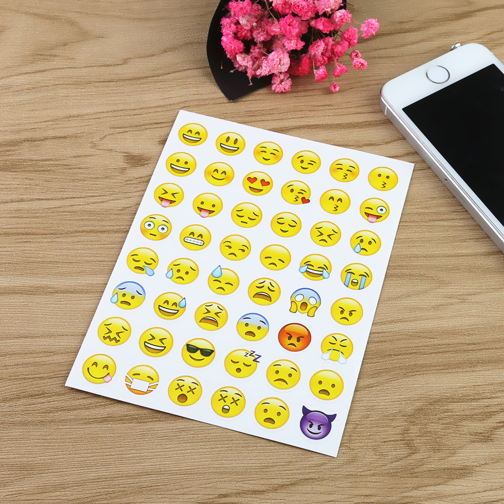 5 pieces cute mobile phone stickers chat brief note. Black Bedroom Furniture Sets. Home Design Ideas