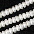 4x6mm 5x8mm blanco y gris plata rondelle ábaco imitación perla encanta la joyería que hace diy sueltas separadores accesorios 15 pulgadas B1078