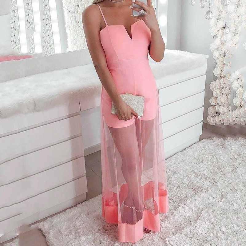 Летний сексуальный клуб плюс размер розовый милый комбинезон для женщин 2019 Высокая талия сетка Backlesss 2019 шикарные женские Африканские модные комбинезоны