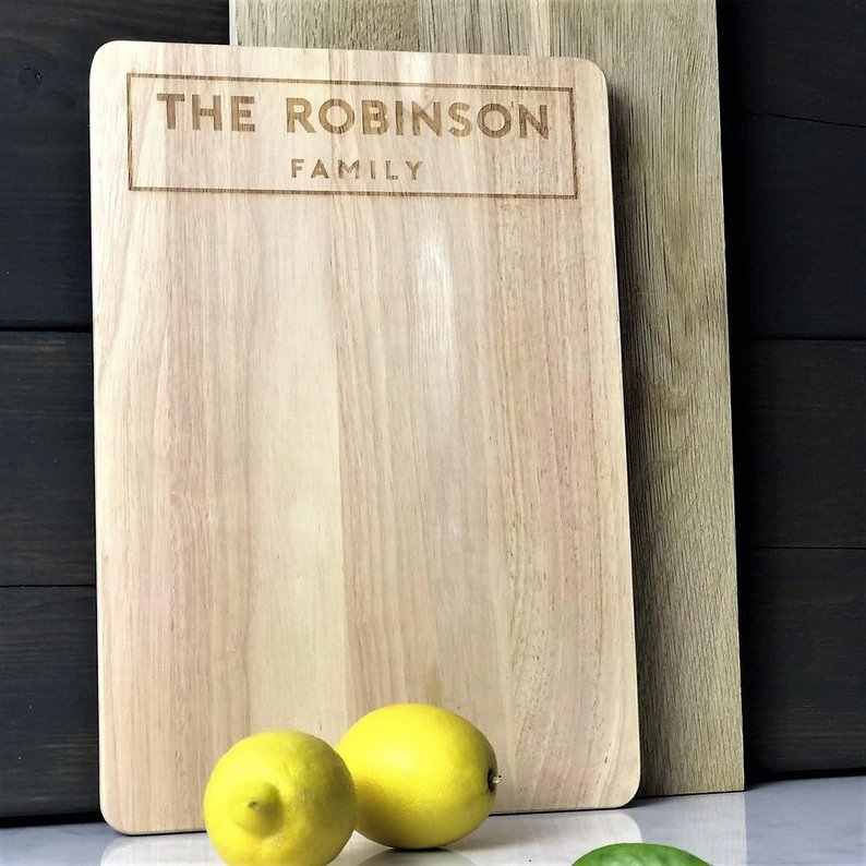 Custom Cooking Gift Enter Name Better Kitchen Personalized Big Rectangle Bamboo Cutting Board Bamboo by Personalized Gifts