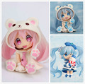 Cute Nendoroid White Bear Hatsune Miku Snow Miku PVC Action Figure