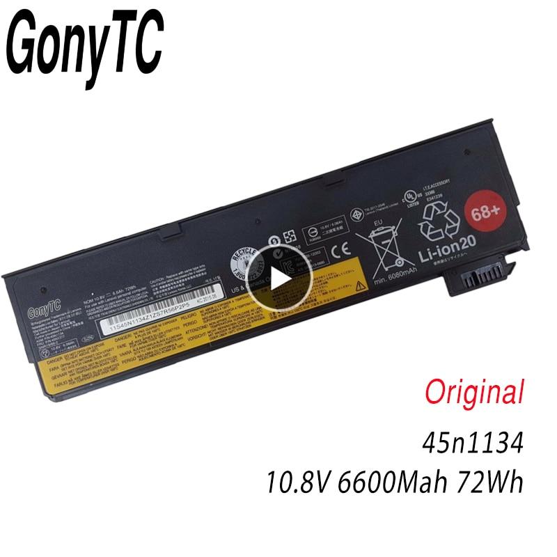 GONYTC 10.8 V/11.22 v 72wh X240 Nouvelle Batterie Dorigine pour Lenovo ThinkPad T440S T440 X240 S440 S540 45N1125 45n1134 45n1135 68 +GONYTC 10.8 V/11.22 v 72wh X240 Nouvelle Batterie Dorigine pour Lenovo ThinkPad T440S T440 X240 S440 S540 45N1125 45n1134 45n1135 68 +