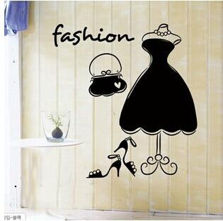 321e2c65f Senhoras moda quarto romântico parede de vidro vara janela loja de roupas  decoração frete grátis