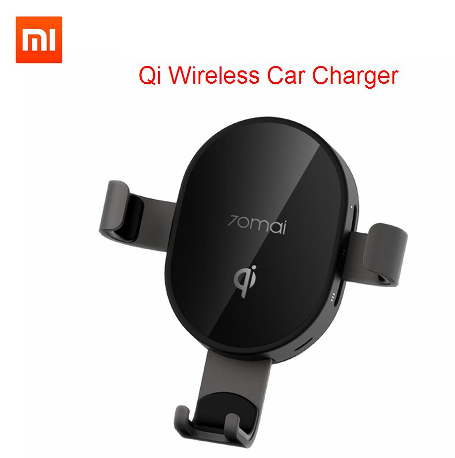 Xiaomi 70mai Car Charger QI Certification Car Phone Holder 10W Fast Wireless Charger For Xiaomi Huawei IPhone