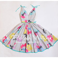 FREE SHIPPING Le Palais Vintage 2016 Summer New Arrival Limited Edition Sexy Low Cut V Neck High Waist Tutu Dress Women Clothes