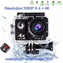 Cheaper Trainshow Sports Action Vedio Camera, Full HD 4K 16MP Waterproof Diving WiFi Remote Control Helmet with Wrist remote control