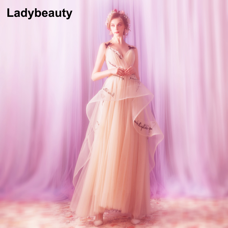 2018 New arrival Sexy Long evening dress Woman Party celebrity dresses V neck Backless Floor Length