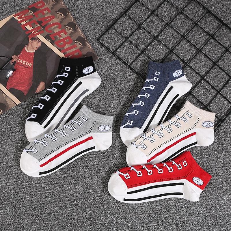 Hip Hop Cool Summer Lover   Socks   Art Original Boat   Socks   Breathable Shoes Shape Short Vintage Stretchy Soft Fashion   Socks   Unisex