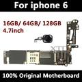 Для iPhone 6 4,7 дюймов материнская плата разблокированная системная плата с сенсорным ID полная функция 100% оригинальная IOS установленная логиче...