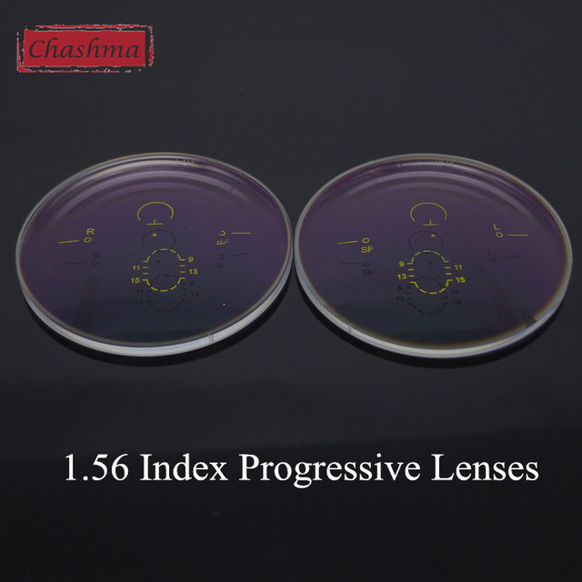 Chashma 1.56 Index Wide Field Verifocal Lenses Clear Color Eyes Optical Glasses Progressive Multifocal Lenses for Recipe
