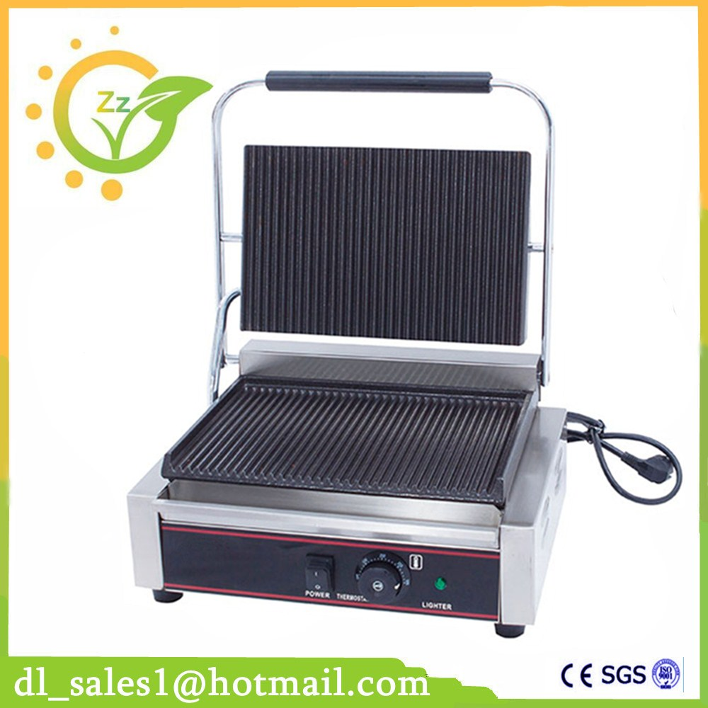 Newest 220V 1800W Non-Stick Commercial Electric Contact Grill Steak Machine Single Plate Electric Griddle Grill restaurant equipment for sale commercial thermostat electric griddle machine commercial electric contact grill