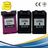 3 Pack Ink Cart Ridges For HP 122 XL 122XL HP122 HP122XL Deskjet 1000 1050 2000