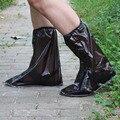 1 par sapatos de Chuva reutilizáveis capa Mulheres/homens/crianças dos miúdos engrossar Botas De Chuva Ciclo Deslizamento Plana à prova d' água-Galochas resistentes