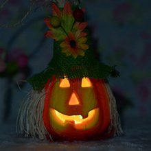 Cute Scarecrow Pumpkin Changing Color Night Light