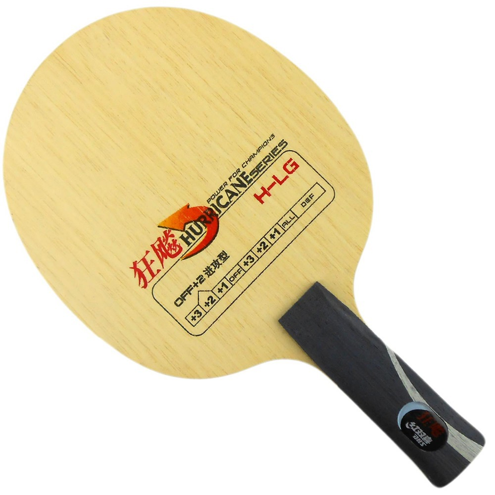 DHS Hurricane H-LG Table Tennis (PingPong) Blade, Shakehand- AN handle (Long Handle) dhs hurricane h qz h qz penhold short handle cs table tennis pingpong blade