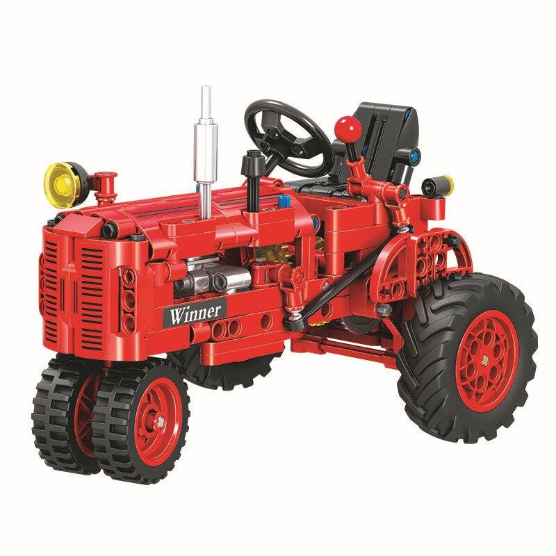 Technic 7070 302pcs Technic Classical Classic Old Tractor Building Block Brick Toys Compatible Legoings Technic