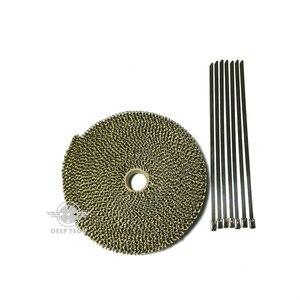 Image 5 - 10 m x 2 אינץ טיטניום פליטה לעטוף פליטה כותרת צינור חום בידוד בד