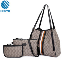 цены Women Handbags Leather Shoulder Bag Fashion Female Totes High Quality 3-Piece Set Designer Brand Bolsa Feminina 2019 New