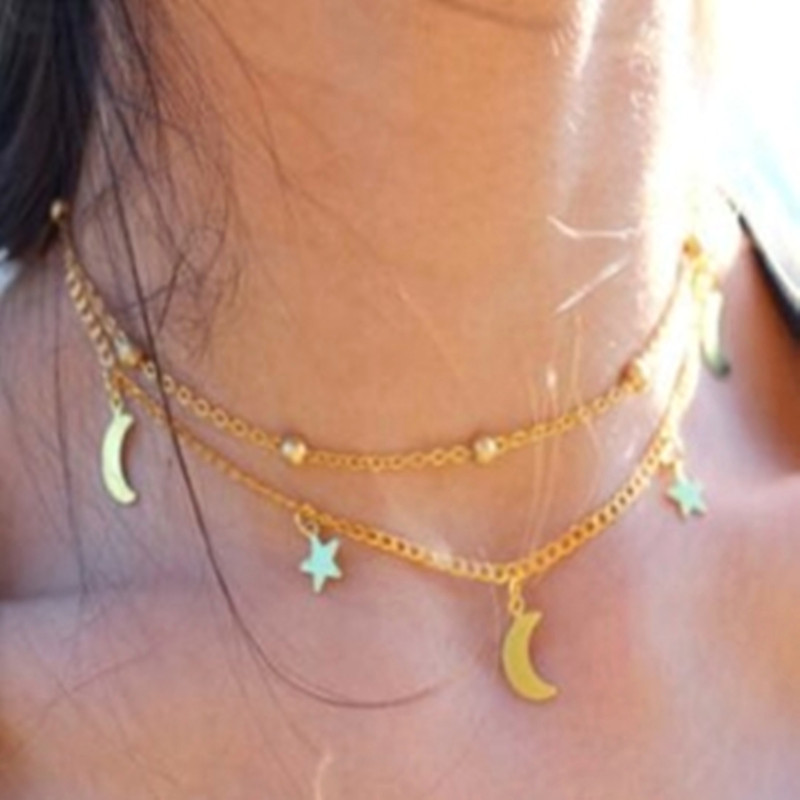 Новая мода, трендовые ювелирные изделия, медное колье, многослойное ожерелье, подарок для женщин, бохо, многослойные сексуальные чокеры, цепочка, ожерелье, A60 - Окраска металла: x7