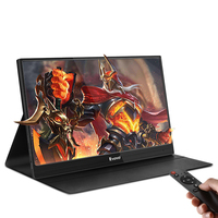 Eyoyo 13 Portable PC Gaming Monitor 1920x1080 IPS Game Monitor for Xbox One Xbox 360 PS3 PS4 WiiU Switch Raspberry Pi Speakers