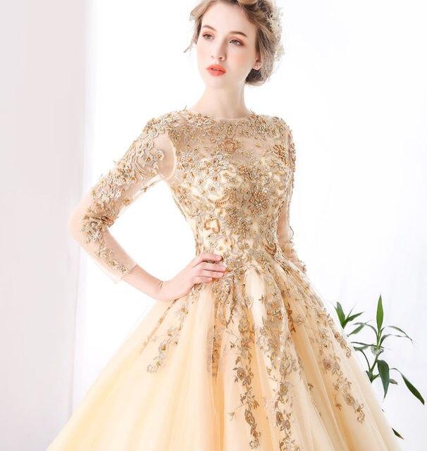 Excepcional Vestidos De Novia De Oro Champán Ideas Ornamento ...