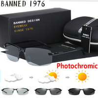 Photochromic 24 Hours All Day Weather Snow Light Sunglasses Top Quality Men Women Polarized Night Vision