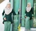 2016 fashion abaya muslim girl long dress turkish women clothing burqa plus size dubai arab djellaba skirt suits a set