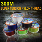 300meter nylon thread. There are 6 colors to choose. Fishing line. Bright and bright. Suitable for all kinds of environmental fi