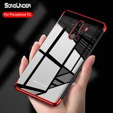 For Xiaomi Pocophone F1 Case Cover Plating TPU Soft Silicone Clear Back Cover For Xiaomi Pocophone F1 Poco F1 Phone Case Coque цена и фото