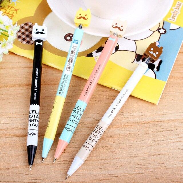 0.38 мм Синий Симпатичные Kawaii Ролик Мяч Шариковая Ручка Для Написания Школьных Принадлежностей Офисных Принадлежностей Стационарные Для Детей Детей