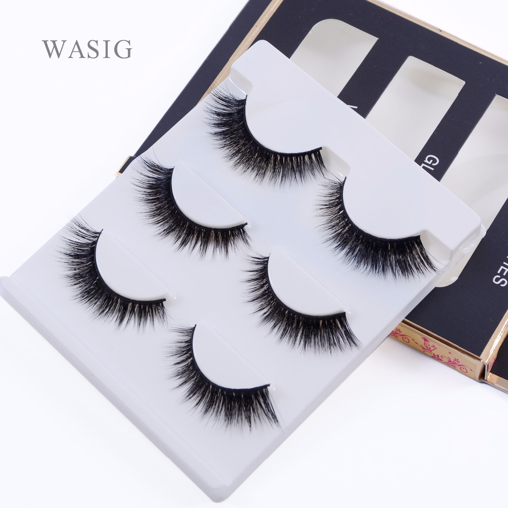 New 3 pairs natural false eyelashes fake lashes long makeup 3d mink lashes extension eyelash mink eyelashes for beauty 3D-12