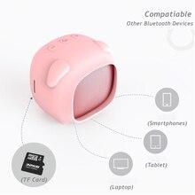 Altavoz portátil pink pig, Altavoz bluetooth con columna de sonido, mini altavoz, centro de música biuetooth, barra de sonido de cine en casa