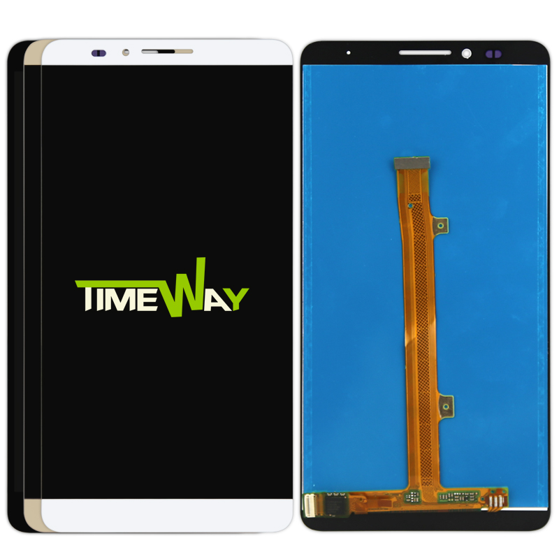 DHL 5pcs In Stock! High Quality New LCD Display+Digitizer Touch Screen Glass Assembly For Huawei Mate7 lcd display top fashion dhl 5pcs high quality for