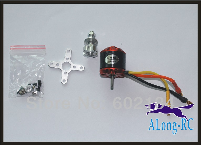 цена free ship airplane RC model 2830 kv1000 Outrunner Brushless Motor for 1700mm Whisper wind