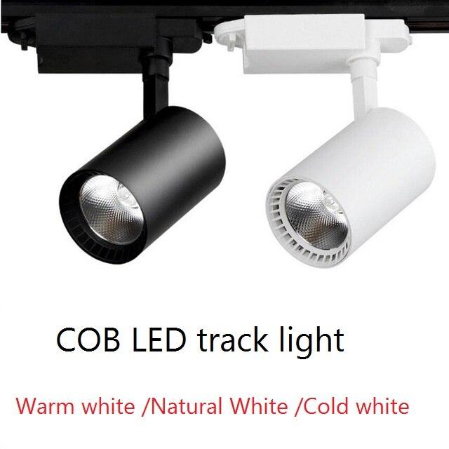 LED Spoor Licht 12W 20W 30W COB Spoor Lamp Lichten Rail Spots Leds Tracking Armatuur Spot Verlichting reflectoren voor kleding Winkel