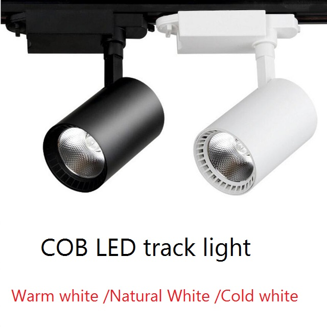 LED Track Light 12W 20W 30W COB Track Lamp Lights Rail Spotlights Leds Tracking Fixture Spot Lights Reflectors For Clothes Store
