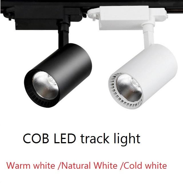 Oświetlenie szynowe led 12W 20W 30W COB światła szynowe reflektory szynowe led oprawa śledząca lampy punktowe reflektory do sklepu odzieżowego