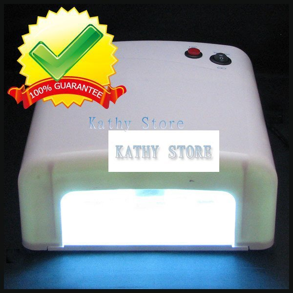 36W gel curing uv lamp 110V 220V Nail Art UV Lamp Gel Curing 4X9W Light Tube Nail Dryer
