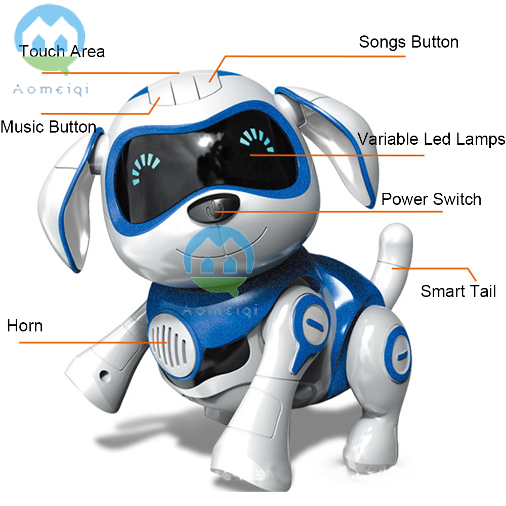 Electronic Toys Rational Cute Electric Touch Sensor Smart Dog With Light Music Kids Educational Toy