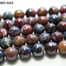 Meihan wholesale natural 10mm 12mm (1strand/set) amazing Pietersite smooth round love beads stone for jewelry making DIY design