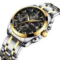 Multifunction man watches BIDEN brand men business wristwatches quartz stainless steel waterproof calendar Citizen movement