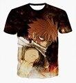 Классический Аниме Fairy Tail Нацу Dragneel Футболки Etherious футболки тис Мужчины Женщины Hipster 3D футболка Harajuku футболки топы