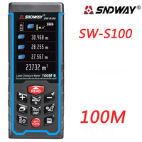 SNDWAY Newest 100M Laser Distance Mete Laser Rangefinder Range Finder Digital Tape USB Color Display Rechargeabel