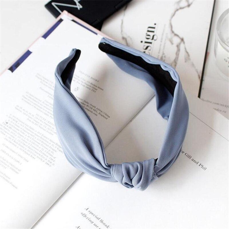 1 pc femmes lunette mode Style coréen bandeau femme filles décontracté élégant tissu croix couleur uni cheveux accessoires chapeaux 6