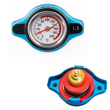 New Small Head Car Truck Thermo Radiator Cap Cover + Water Temperature Gauge 1.3 Bar For Honda CR-V Accord